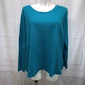 Faded Glory Green Striped Plus Size 5x 30-32